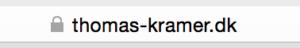 SSL certifikat thomas-kramer.dk